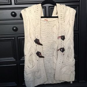 Knitted Sweater Vest Tank Too